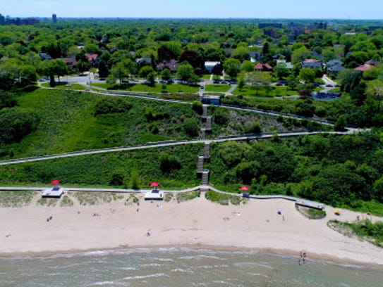 Atwater Park beach in Shorewood, Wis. on Thursday,