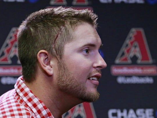 Arizona Diamondbacks pitcher Evan Marshall returns