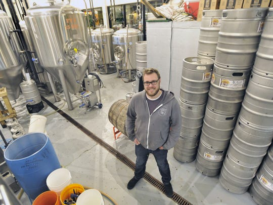Matthew Frey is general manager of Crooked Hammock Brewpub. The business is looking to expand its brand to a second location in Middletown. GARY EMEIGH/Special To The News Journal