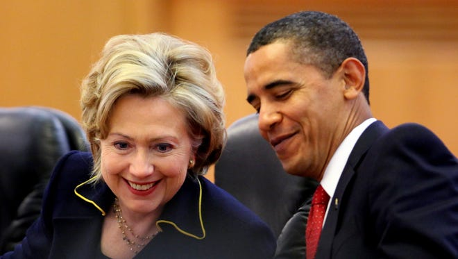 President Obama and Hillary Rodham Clinton
