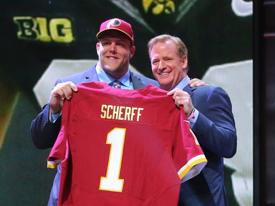 Brandon Scherff won the Outland Trophy in 2014, then became the No. 5 overall pick of the 2015 draft. The right guard has started 65 games in five seasons with the Redskins.