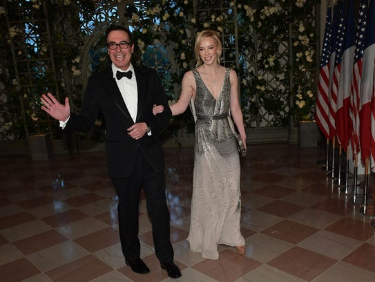 Treasury Secretary Steven Mnuchin and his wife, Scottish-born