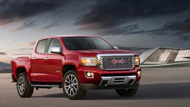 GMC will unveil its 2017 Canyon Denali​ midsize pickup today at the Los Angeles Auto Show.