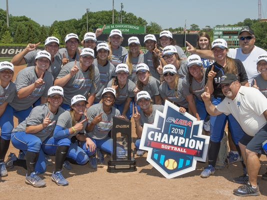 MTSU softball 2018 conference usa championship