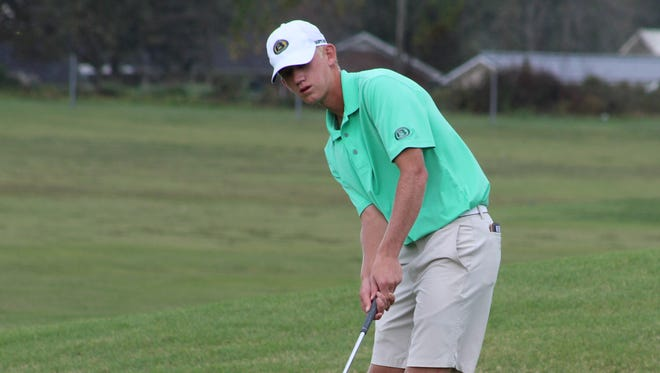 Drew Miller of Briarcrest won the Division II-AA state tournament Tuesday. It's the first individual golf title in school history.
