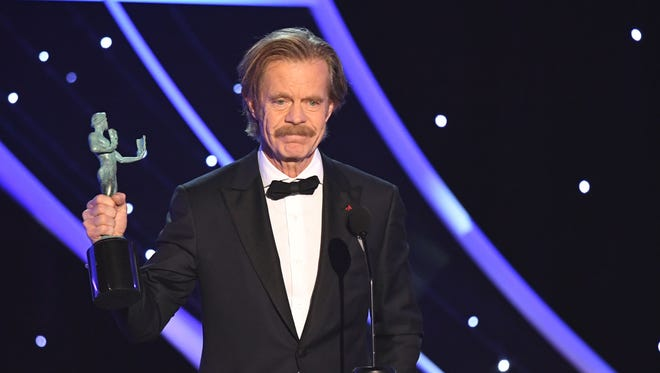 William H. Macy at the 24th Annual Screen Actors Guild Awards in Los Angeles on Jan. 21, 2018.
