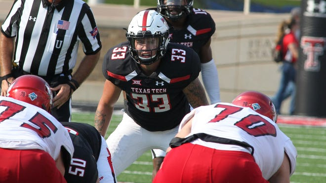 Former Texas Tech linebacker/defensive back Brayden Stringer played in 34 career games with the Red Raiders in four years there. He is now at Texas State as a graduate transfer.