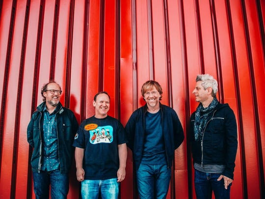 Phish — Page McConnell, Jon Fishman, Trey Anastasio and Mike Gordon — will headline Bonnaroo for the third time.