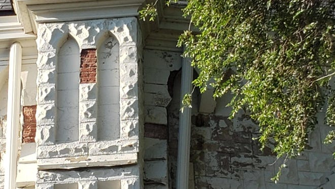 St. Joseph Church in Peoria suffered damage from Saturday's severe storm that swept through central Illinois.