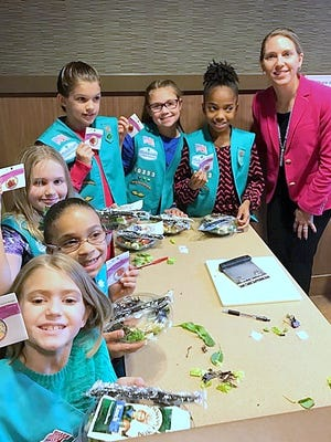 Horseheads McDonald's owner Courtney Feehan welcomed several Girl Scout Juniors to her restaurant in October.