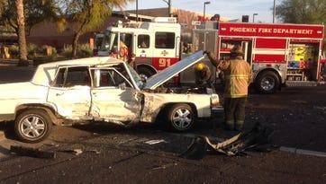 Phoenix collision sends two to trauma center