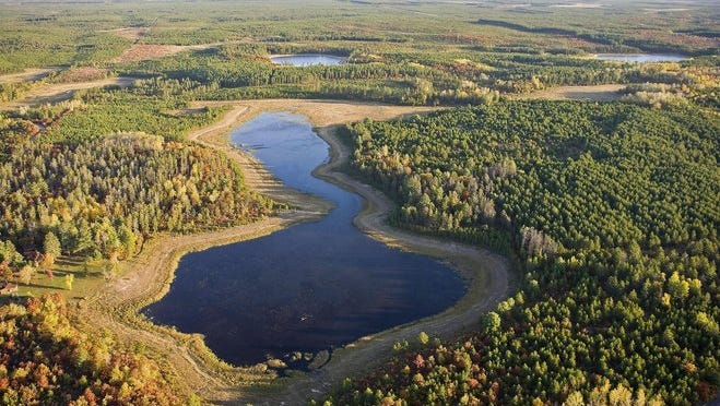 The state Department of Natural Resources wants to add more than 7,000 acres to its holdings in northwestern Wisconsin in a deal that builds on a historic transaction comprising more than 100 square miles. This is Black Fox Lake in Douglas County, where much of the Brule-St. Croix Legacy Forest is located.