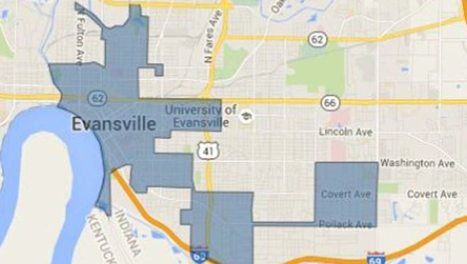 Evansville's federally-designated Promise Zone area.