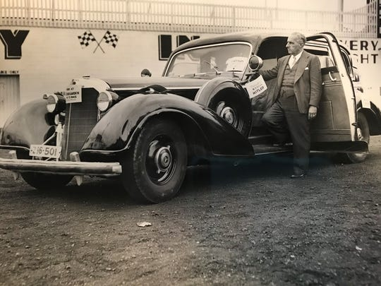 This 'Hitler car' came through Indianapolis in May 1949.