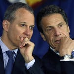 Gov. Andrew Cuomo, right, and Attorney General Eric Schneiderman at a news conference in Albany.