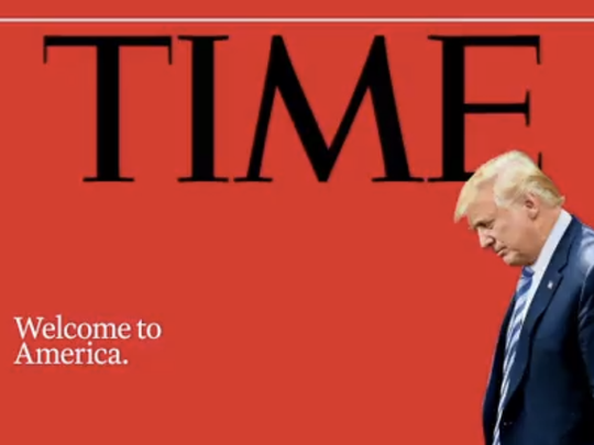 Time magazine's new cover photo slammed President Donald Trump for his administration's separation policy.