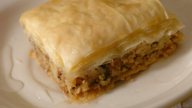 Baklava's layers of pastry with nut filling is always a hit at Greek Fest in Carmel.