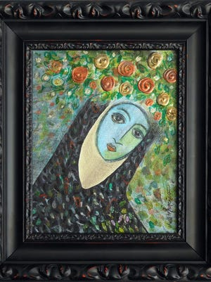 """Blue Nun"" by Hal Marcus won best of show in the KCOS art auction. It will be auctioned on TV from 6 to 6:30 p.m. April 16."