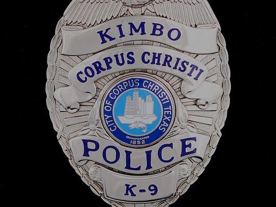 Corpus Christi Police K-9 Kimbo's badge.