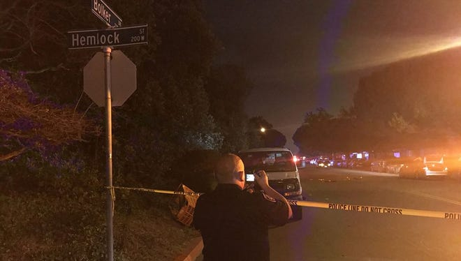Port Hueneme police investigated a shooting Tuesday night that left a 16-year-old male seriously injured.