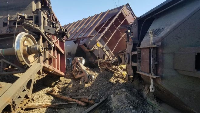 A train derailed south of Salem near the Ankeny Wildlife Refuge on Tuesday, July 18. No injuries were reported.