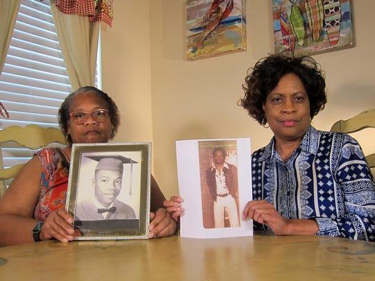 Mylinda Byrd Washington, 66, left, and Louvon Byrd