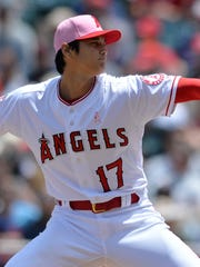 Angels pitcher Shohei Ohtani struck out 11 Twins in pitching 6 1/3 shutout innings on Sunday.
