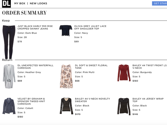 Daily Look Elite clothing subscription