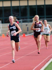 Chambersburg's Abby Yourkavitch (1) won the 1,600 at the Mid Penn Championships with a time of 5:05.99.