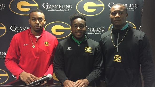 DeVante Kincade, Derrick Dixon and Montrel Meander all three FBS transfers Grambling has added to the roster.