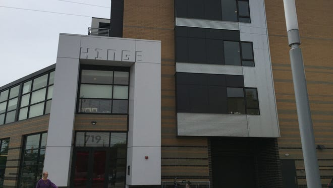 Police think a burglar used a pass code to steal a television and furniture from an apartment in the Hinge building, 719 Virginia Ave., on May 6, 2016.