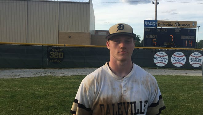 Corbin Maddox helped Daleville to its second consecutive sectional championship