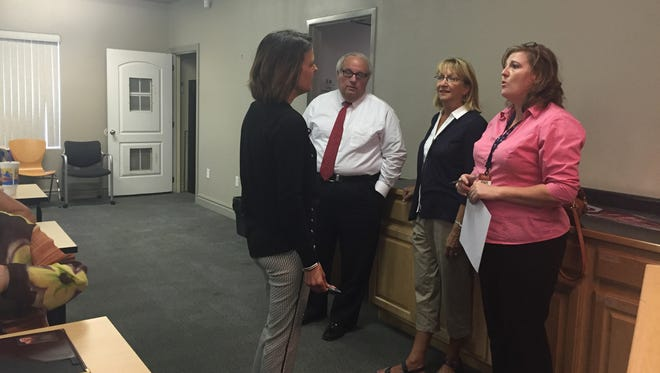 Banking on Women founders and representatives from the Small Business Development Center facilitate a Banking on Women Class July 13. The 9-week course covers specific, business-related topics for female business owners.