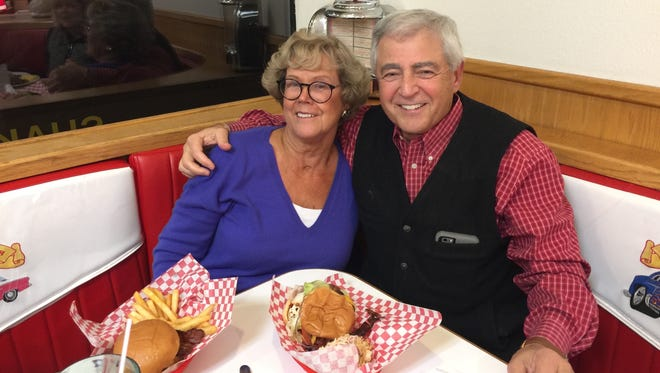 Cynthia and Kevin Devine enjoy dinner at retro-themed Jeanine's Happy Diner in Anderson.