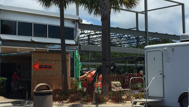 Construction is currently underway to expand the Titusville Aldi store.