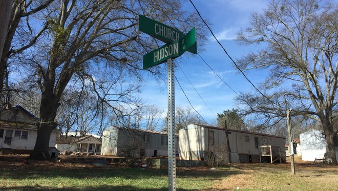 Greenville County Sheriff's deputies found a 17-year-old boy who had been shot to death lying in this ditch near Church and Hudson streets in Greenville's Sans Souci community early Wednesday, Jan. 31, 2018.