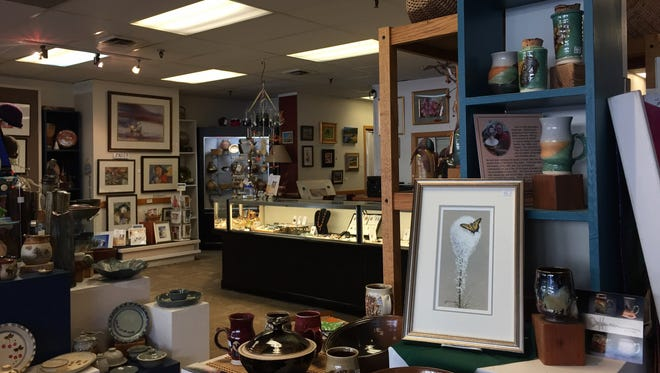 Pottery, paintings, silk scarves and baskets are among the offerings at Gallery 16.