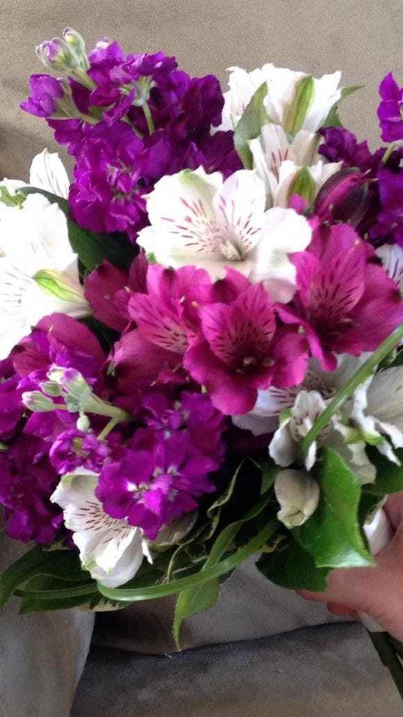 Purple Alstromeria in Bouquet