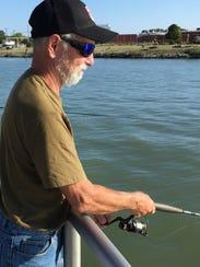 Bob Kanas fishes at Vantage Point on Tuesday. He said