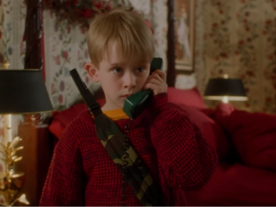 "Macaulay Culkin stars in ""Home Alone"""