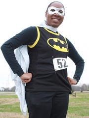 Runners and walkers are encouraged to dress as superheroes, like Sharonoa Brim at the 2017 Hero Hustle, in the new Walk/Run Across Sumner Superhero 5k/One-Mile Fun Walk.
