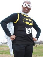 Dress in character for the run, like Sharonoa Brim did in the 2017 Hero Hustle in Gallatin.