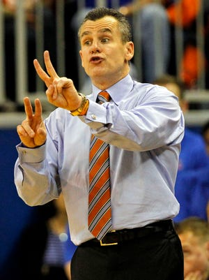 Florida coach Billy Donovan and the Gators will face the Miami Hurricanes.