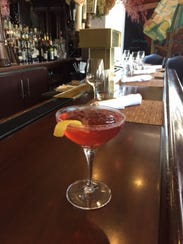 The Poinsetta Cocktail at Restaurant Serenade in Chatham.