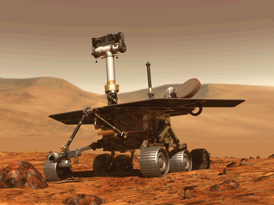 Opportunity's primary scientific goal is to search