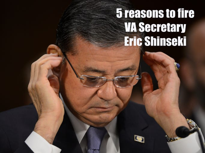 OPINION: Arizona Sens. John McCain and Jeff Flake have called for VA Secretary Eric Shinseki's resignation. Five reasons why azcentral's editorial board stands with them: