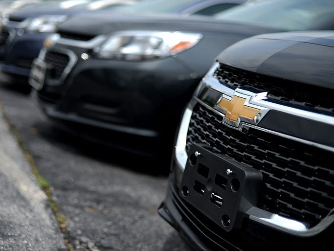 Chevrolet Malibu vehicles at Fitzgerald Auto Mall in Frederick, Md. Technicians at Fitzgerald Auto Mall say they perform about 30 GM ignition-switch recall repairs daily.