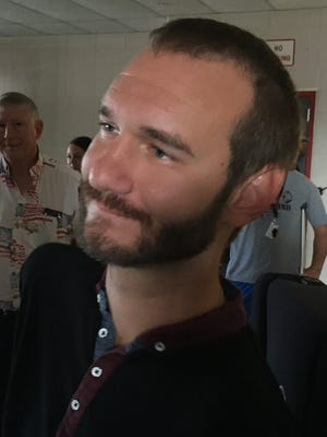 Nick Vujicic of Life Without Limbs.