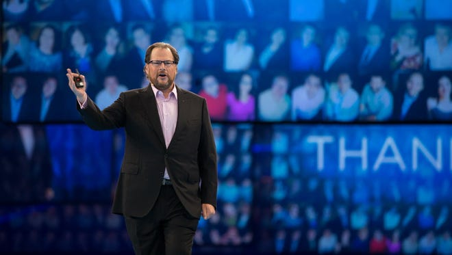 Marc Benioff, CEO of Salesforce, led a 2-hour Dreamforce keynote that included Stevie Wonder and lots of talk about the coming Internet of Things invasion.
