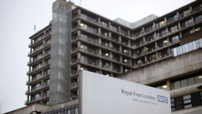 The Royal Free Hospital in Hampstead, north London, on Jan. 3, 2015. The hospital treating a British nurse who contracted the Ebola virus in West Africa says her condition has deteriorated to critical.